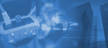 Σύνθετη εικόνα της άποψης της τεχνολογίας στοιχείων Στοκ εικόνες με δικαίωμα ελεύθερης χρήσης