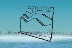 Σύνθετη εικόνα της ανάλυσης στοιχείων doodle Στοκ Εικόνες
