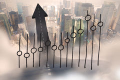 Σύνθετη εικόνα της ανάλυσης στοιχείων doodle Στοκ φωτογραφίες με δικαίωμα ελεύθερης χρήσης