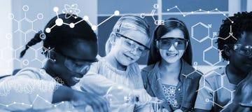 Σύνθετη εικόνα της απεικόνισης των χημικών τύπων Στοκ εικόνα με δικαίωμα ελεύθερης χρήσης