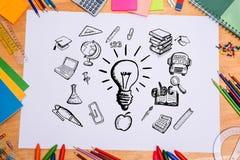 Σύνθετη εικόνα της εκπαίδευσης doodles Στοκ Εικόνα
