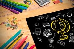 Σύνθετη εικόνα της εκπαίδευσης doodles Στοκ φωτογραφία με δικαίωμα ελεύθερης χρήσης