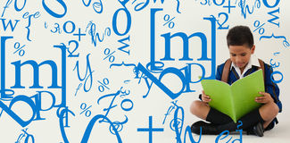 Σύνθετη εικόνα της επιστολής και jumble αριθμού στοκ εικόνα