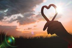 Σύνθετη εικόνα της κόκκινης καρδιάς αγάπης Στοκ Φωτογραφίες
