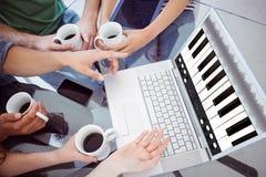 Σύνθετη εικόνα της μουσικής app Στοκ Εικόνα