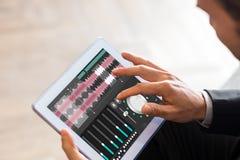 Σύνθετη εικόνα της μουσικής app Στοκ Φωτογραφίες