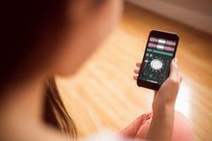 Σύνθετη εικόνα της μουσικής app Στοκ εικόνες με δικαίωμα ελεύθερης χρήσης