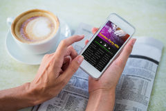 Σύνθετη εικόνα της μουσικής app Στοκ φωτογραφία με δικαίωμα ελεύθερης χρήσης