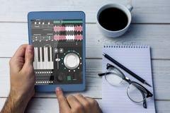Σύνθετη εικόνα της μουσικής app Στοκ Εικόνες