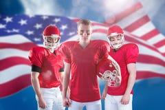 Σύνθετη εικόνα της ομάδας αμερικανικού ποδοσφαίρου Στοκ Φωτογραφία