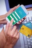 Σύνθετη εικόνα της πιστωτικής κάρτας Στοκ Εικόνα
