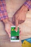 Σύνθετη εικόνα της πιστωτικής κάρτας Στοκ Φωτογραφίες