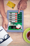Σύνθετη εικόνα της πιστωτικής κάρτας Στοκ Φωτογραφία