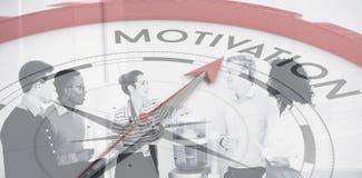 Σύνθετη εικόνα της πυξίδας που δείχνει το κίνητρο στοκ εικόνες με δικαίωμα ελεύθερης χρήσης