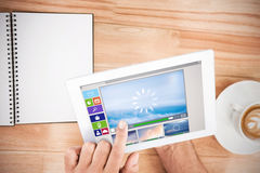 Σύνθετη εικόνα της σύνθετης εικόνας των διάφορων εικονιδίων βίντεο και υπολογιστών Στοκ φωτογραφία με δικαίωμα ελεύθερης χρήσης