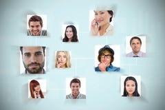 Σύνθετη εικόνα της σύνδεσης μεταξύ των ανθρώπων Στοκ Εικόνες