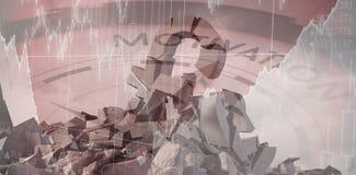 Σύνθετη εικόνα της τρισδιάστατης εικόνας του χαλασμένου συμβόλου λιβρών με τις πέτρες Στοκ εικόνες με δικαίωμα ελεύθερης χρήσης
