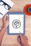 Σύνθετη εικόνα της φωτογραφίας apps Στοκ Εικόνες