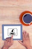 Σύνθετη εικόνα της φωτογραφίας apps Στοκ εικόνες με δικαίωμα ελεύθερης χρήσης