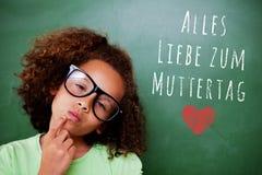 Σύνθετη εικόνα της χαριτωμένης σκέψης μαθητών στοκ φωτογραφίες με δικαίωμα ελεύθερης χρήσης
