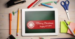 Σύνθετη εικόνα της Χαρούμενα Χριστούγεννας εμβλημάτων Στοκ εικόνα με δικαίωμα ελεύθερης χρήσης