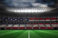 Σύνθετη εικόνα της ψηφιακά παραγμένης αμερικανικής εθνικής σημαίας διανυσματική απεικόνιση