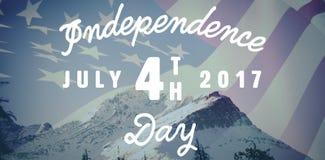Σύνθετη εικόνα της ψηφιακά παραγμένης εικόνας ευτυχούς 4ου του μηνύματος Ιουλίου ελεύθερη απεικόνιση δικαιώματος