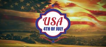 Σύνθετη εικόνα της ψηφιακά παραγμένης εικόνας 4ου του κειμένου Ιουλίου ελεύθερη απεικόνιση δικαιώματος