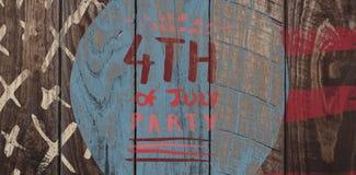 Σύνθετη εικόνα της ψηφιακά παραγμένης εικόνας 4ου του κειμένου κομμάτων Ιουλίου διανυσματική απεικόνιση