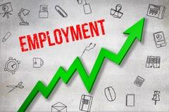 Σύνθετη εικόνα της ψηφιακά παραγμένης εικόνας του κειμένου απασχόλησης ελεύθερη απεικόνιση δικαιώματος