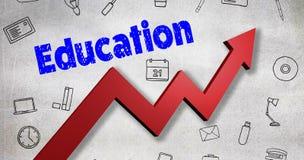 Σύνθετη εικόνα της ψηφιακά παραγμένης εικόνας του κειμένου εκπαίδευσης διανυσματική απεικόνιση