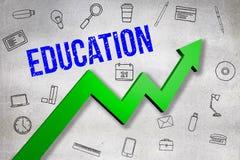 Σύνθετη εικόνα της ψηφιακά παραγμένης εικόνας του κειμένου εκπαίδευσης ελεύθερη απεικόνιση δικαιώματος