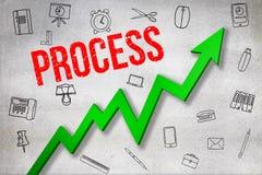 Σύνθετη εικόνα της ψηφιακά παραγμένης εικόνας του κειμένου διαδικασίας ελεύθερη απεικόνιση δικαιώματος