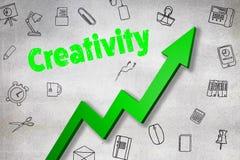 Σύνθετη εικόνα της ψηφιακά παραγμένης εικόνας του κειμένου δημιουργικότητας ελεύθερη απεικόνιση δικαιώματος
