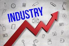 Σύνθετη εικόνα της ψηφιακά παραγμένης εικόνας του κειμένου βιομηχανίας ελεύθερη απεικόνιση δικαιώματος
