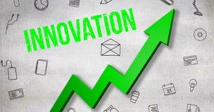 Σύνθετη εικόνα της ψηφιακά παραγμένης εικόνας του κειμένου καινοτομίας διανυσματική απεικόνιση
