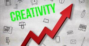 Σύνθετη εικόνα της ψηφιακά παραγμένης εικόνας του κειμένου δημιουργικότητας διανυσματική απεικόνιση