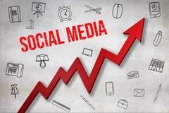 Σύνθετη εικόνα της ψηφιακά παραγμένης εικόνας του κοινωνικού κειμένου μέσων διανυσματική απεικόνιση