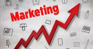 Σύνθετη εικόνα της ψηφιακά παραγμένης εικόνας του μάρκετινγκ του κειμένου διανυσματική απεικόνιση