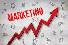 Σύνθετη εικόνα της ψηφιακά παραγμένης εικόνας του μάρκετινγκ του κειμένου απεικόνιση αποθεμάτων