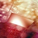 Σύνθετη εικόνα της ψηφιακά παραγμένης εικόνας του πίνακα κυκλωμάτων απεικόνιση αποθεμάτων