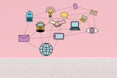 Σύνθετη εικόνα της ψηφιακά παραγμένης εικόνας του προτύπου εκπαίδευσης απεικόνιση αποθεμάτων