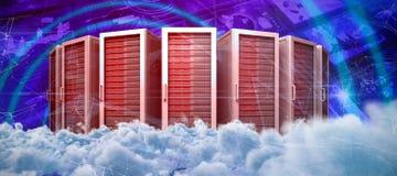 Σύνθετη εικόνα της ψηφιακά παραγμένης εικόνας των σκοτεινών σύννεφων θύελλας απεικόνιση αποθεμάτων