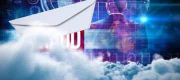 Σύνθετη εικόνα της ψηφιακά παραγμένης εικόνας των σύννεφων θύελλας στοκ φωτογραφίες με δικαίωμα ελεύθερης χρήσης