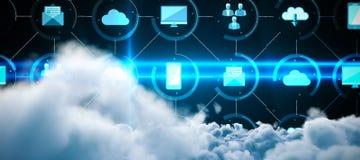 Σύνθετη εικόνα της ψηφιακά παραγμένης εικόνας των σύννεφων θύελλας ελεύθερη απεικόνιση δικαιώματος