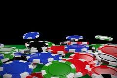 Σύνθετη εικόνα της ψηφιακά παραγμένης εικόνας των τρισδιάστατων τσιπ παιχνιδιού απεικόνιση αποθεμάτων