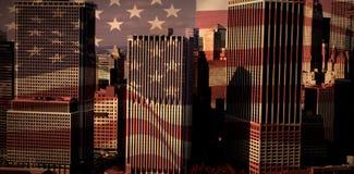 Σύνθετη εικόνα της ψηφιακά παραγμένης Ηνωμένης εθνικής σημαίας ελεύθερη απεικόνιση δικαιώματος