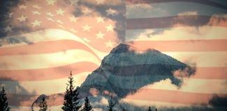 Σύνθετη εικόνα της ψηφιακά παραγμένης Ηνωμένης εθνικής σημαίας απεικόνιση αποθεμάτων