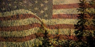 Σύνθετη εικόνα της ψηφιακά παραγμένης Ηνωμένης εθνικής σημαίας διανυσματική απεικόνιση