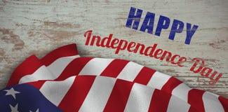Σύνθετη εικόνα της ψηφιακά σύνθετης εικόνας του ευτυχούς κειμένου ημέρας της ανεξαρτησίας διανυσματική απεικόνιση